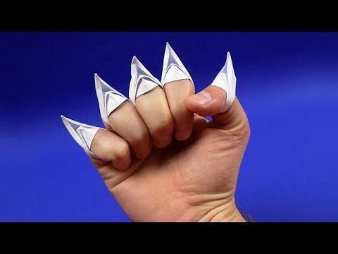 Как сделать когти из бумаги на пальцы. Как сделать когти рыси