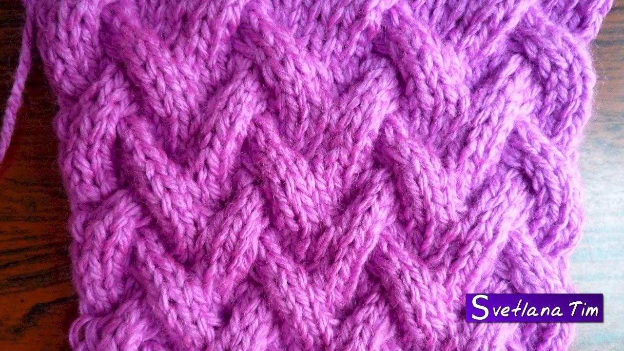 Схемы вязания спицами корзинка