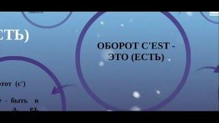 Оборот c'est - Урок от French-online.ru