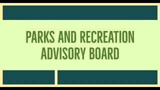 West Hartford Parks and Recreation Advisory Board of September 21, 2020