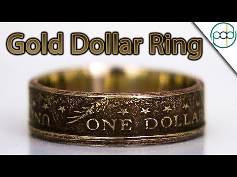Making a Ring Out of a Gold Dollar Coin!