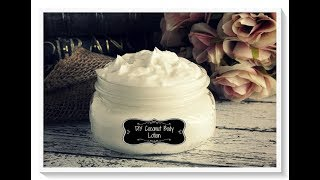 HOMEMADE  COCONUT OIL LOTION DIY 2018/TheRealWorkingMom