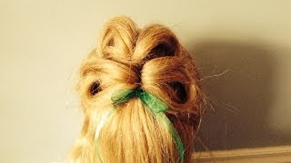 St Patrick's Day Hairstyle--The Four Leaf Clover
