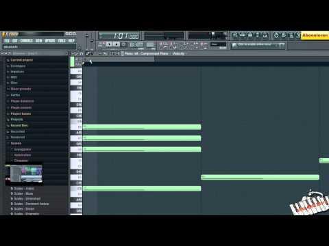 VIDEO 27   FL STUDIO VON A - Z (Scales, Scores, Melodien, Major Minor Akkorde) TUTORIAL DEUTSCH