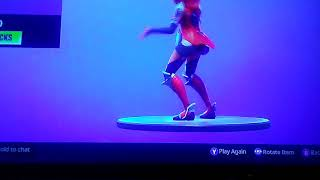 There's a glitch in fortnite new emote living large