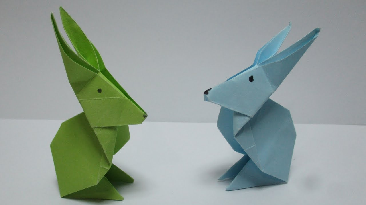 Origami animals how to make origami rabbit 2origami paper origami animals how to make origami rabbit 2origami paper rabbitdiy paper crafts jeuxipadfo Image collections