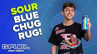 G FUEL Sour Blue Chug Rug - IN A CAN!!