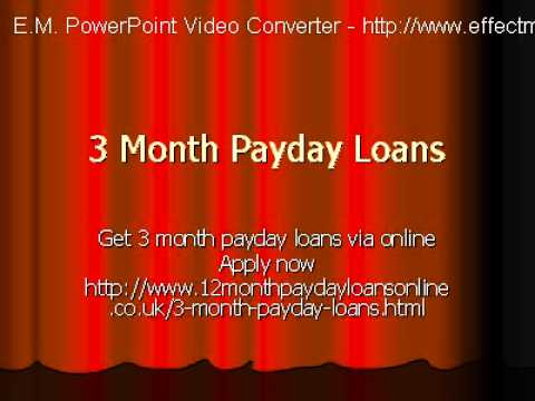 3 Month Payday Loans- Short Term Cash Aid In UK