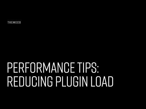Performance Tips: Reducing Plugin Load