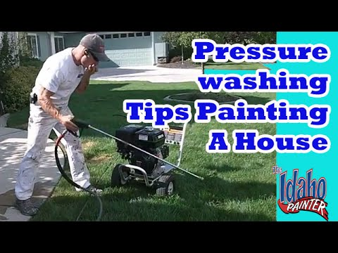 How to paint a house (the prep process).  Pressure Washing Tips.