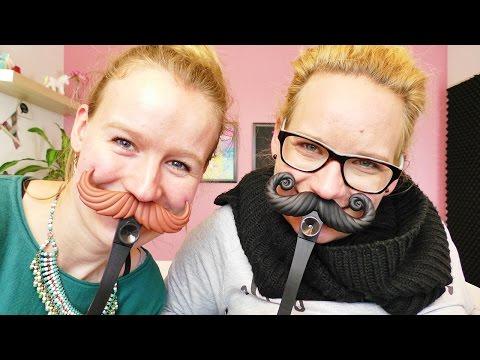 Tragen EVA & KATHI jetzt einen BART? Moustache Smash | Witziges Spiel | DIY Inspiration Challenge