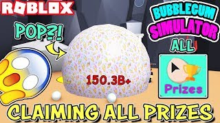 CLAIMING *ALLE PREISE* UND POPPING A HUGE BUBBLE IN BUBBLEGUM SIMULATOR (Roblox)