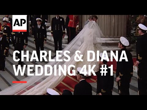 Charles & Diana Wedding in 4K | Part 1 | Arrivals at St Paul's Cathedral | 1981