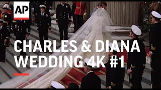 Charles & Diana Wedding in 4K   Part 1   Arrivals at St Paul's Cathedral   1981