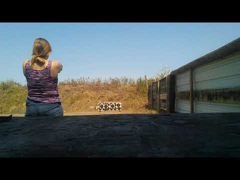 Wife shooting the Gsg firefly 22lr
