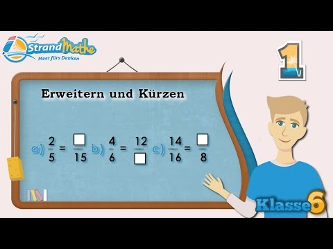 Erweitern und Kürzen    Brüche - Klasse 6 ★ Übung 1