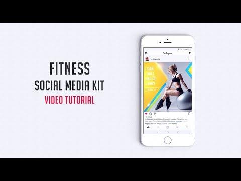 Fitness Social Media Kit   Video Tutorial   Creative Market