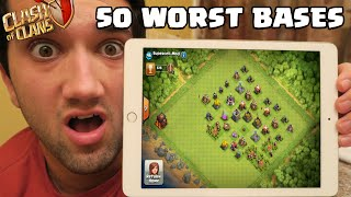 TOP 50 WORST CLASH OF CLANS BASES