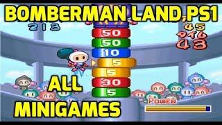 Bomberman Land (PS1/PSX) - All Minigames