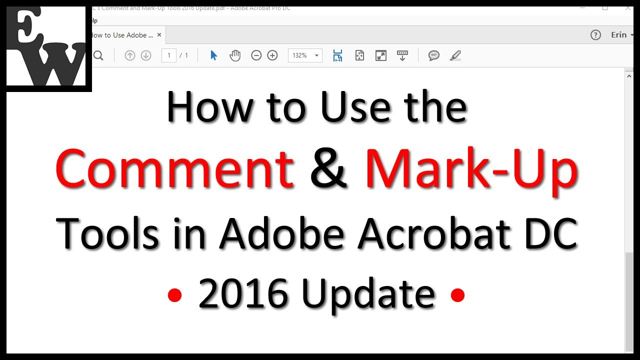 How to Use the Comment and Mark-Up Tools in Adobe Acrobat DC (2016 Update) - YouTube