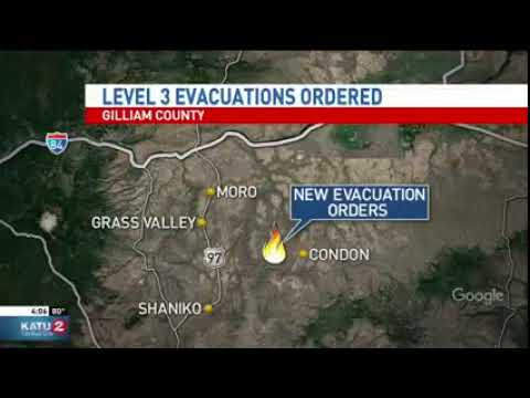 Red Cross Prepared at Condon High School to Help Evacuees
