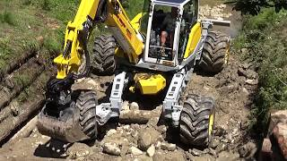 Bachverbauung / Creek obstruction  Menzi Muck M545 & A91