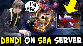 Dendi didn't know SEA NEVER GIVE UP — AFK abandon before COMEBACK