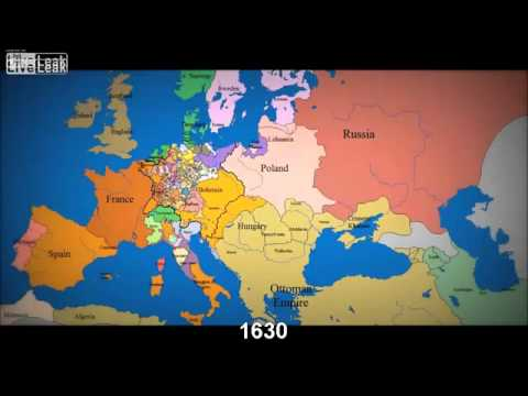 LiveLeak com abkebab\'s Map of Europe 1000 AD to present with ...