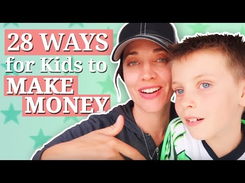 Easy ways for Kids to Make Money - 28 WAYS!