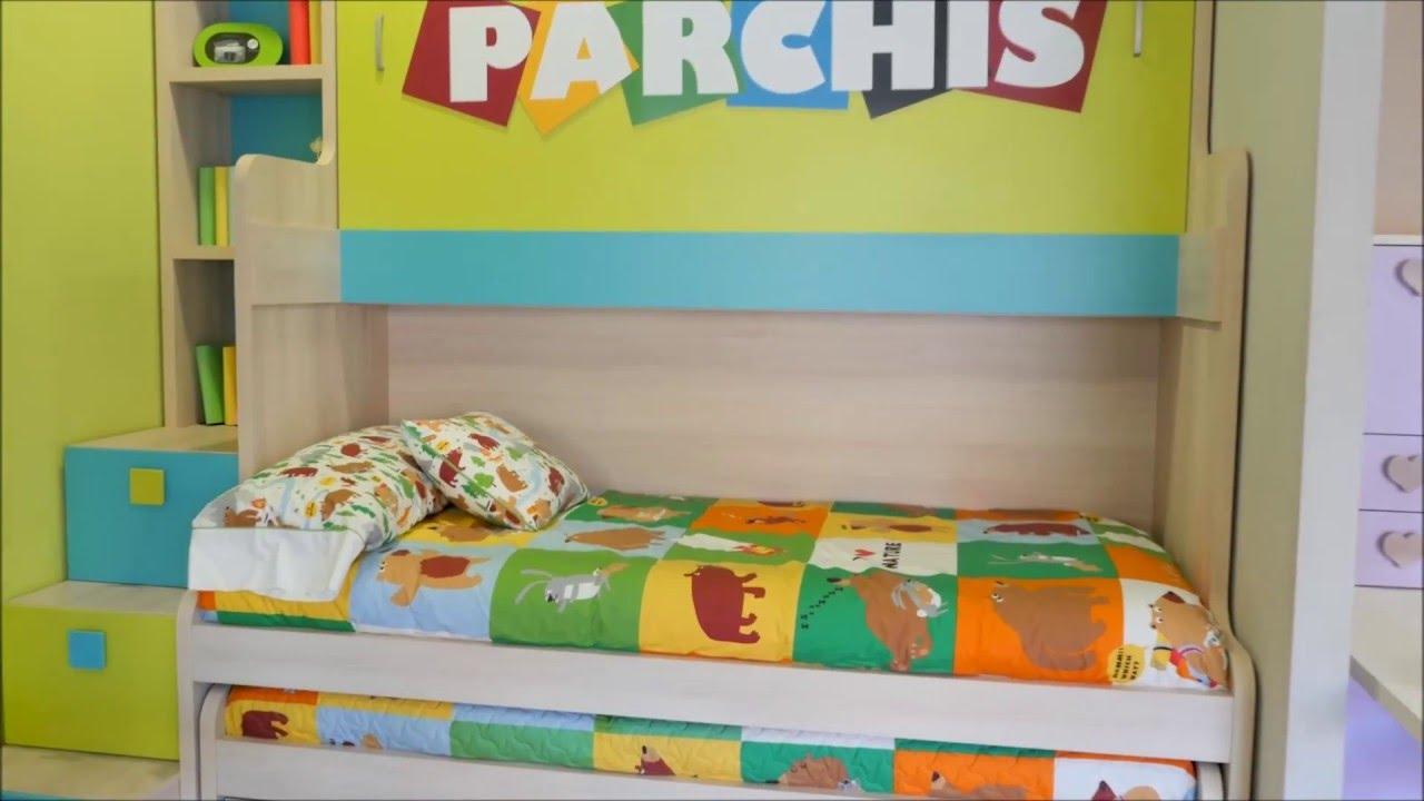 Dormitorios con tres camas abatibles tienda de muebles for Fabrica de muebles juveniles en madrid