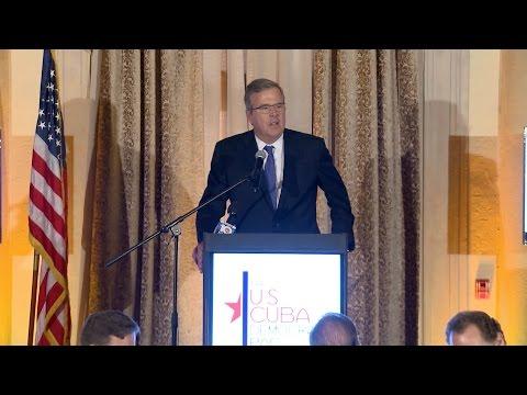 Jeb Bush at U.S. Cuba Democracy PAC 2014