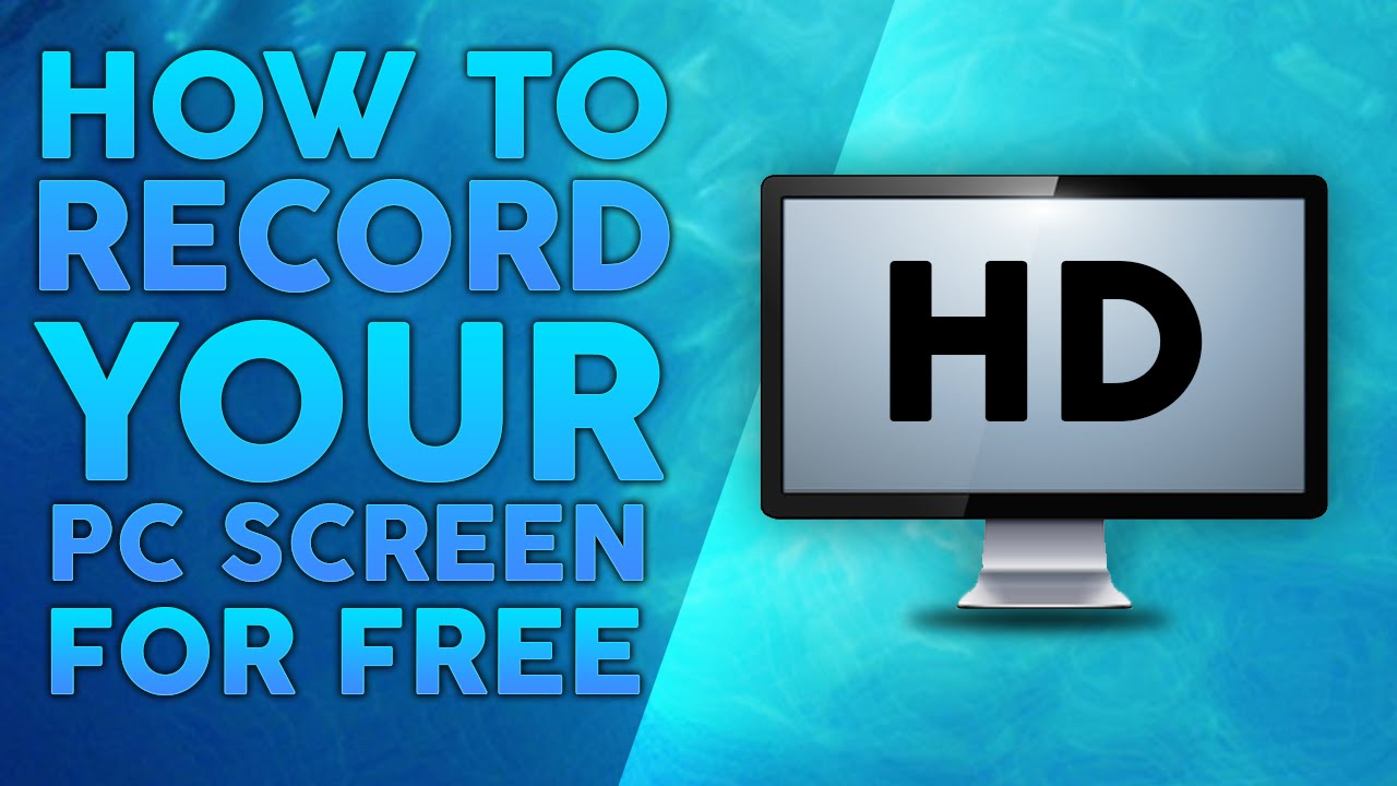 How to Record Your PC Screen for Free (in HD) - YouTube