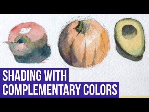 Shade With Complementary Colors | Watercolor Tutorial & Demo