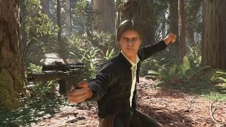 HAN SOLO GAMEPLAY - Star Wars Battlefront Han Solo Gameplay