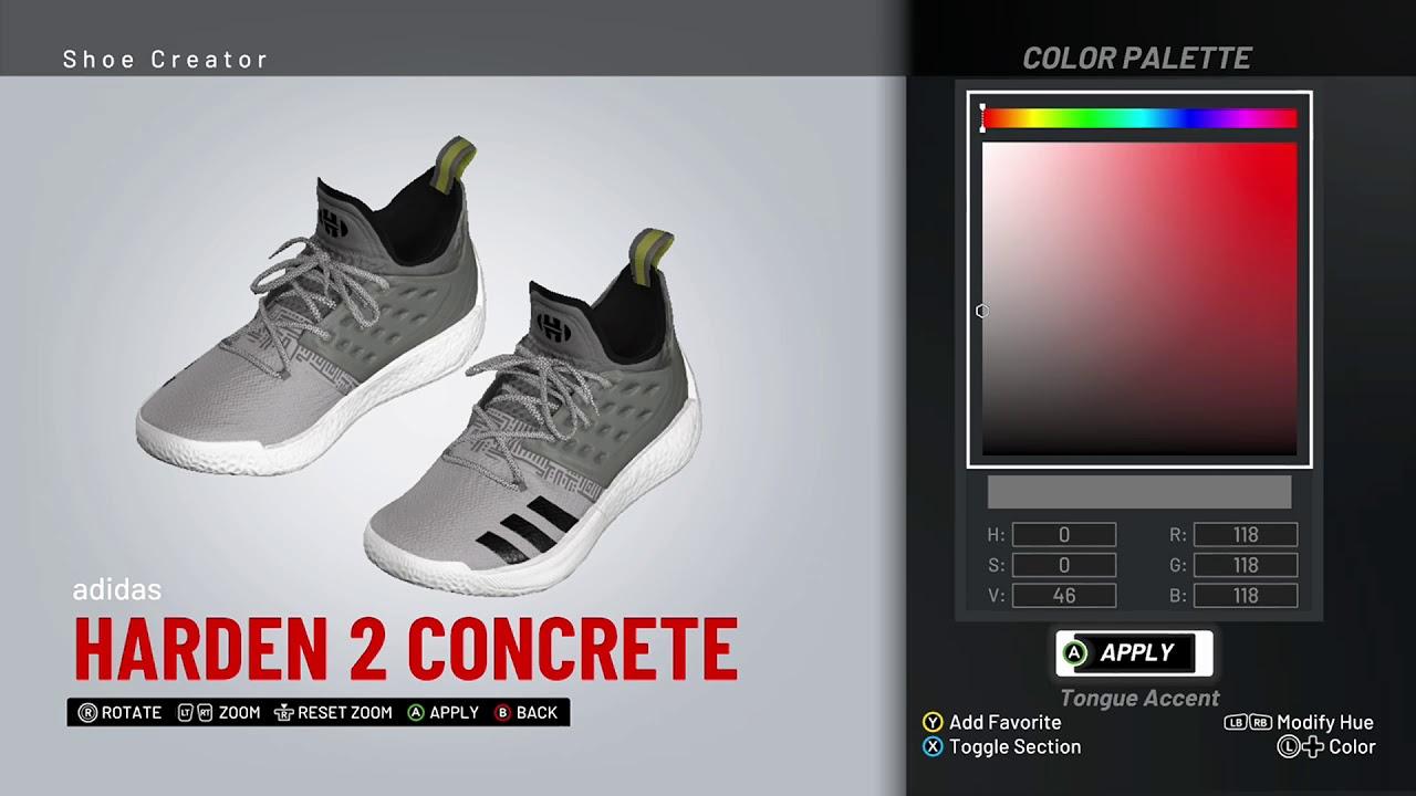NBA 2K19 Shoe Creator - Adidas Harden 2