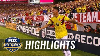 James Rodriguez curls in a beautiful goal vs. the USMNT | 2018 International Friendly Highlights
