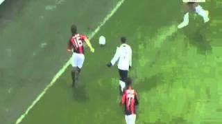 Tackle Flamini (Ac Milan - Tottenham15-02-2011)