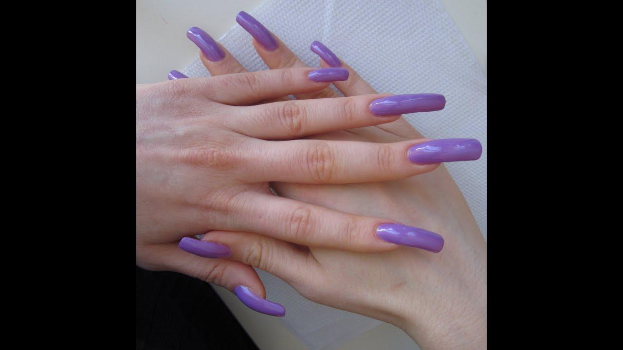 Nail Colors Youtube: Applying Lilac Nail Polish