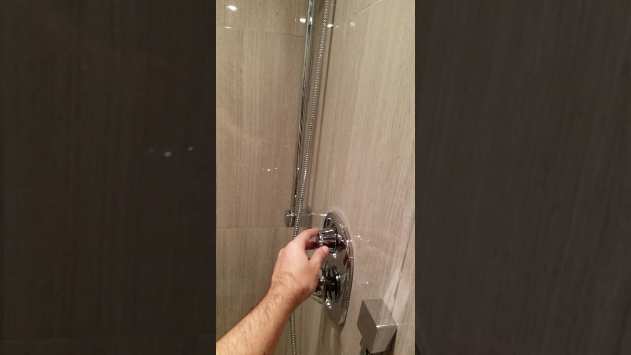 Moen 3 function valve with handheld and rain shower head. - YouTube