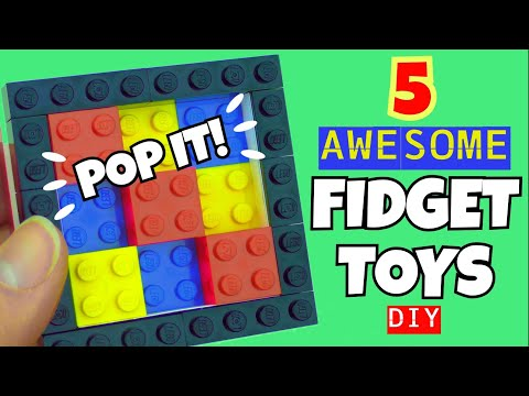 DIY FIDGET TOYS - DIY FIDGET TIKTOK - DIY FIDGET POP IT - HOW TO MAKE FIDGETS - LEGO - COMPILATION
