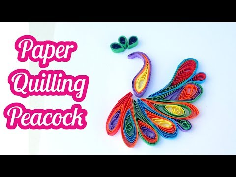 how to make paper quilling peacock by art life