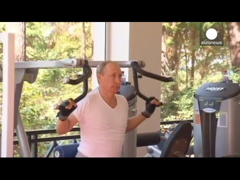 Putin Works Out In Gym With Prime Minister Medvedev, Sochi
