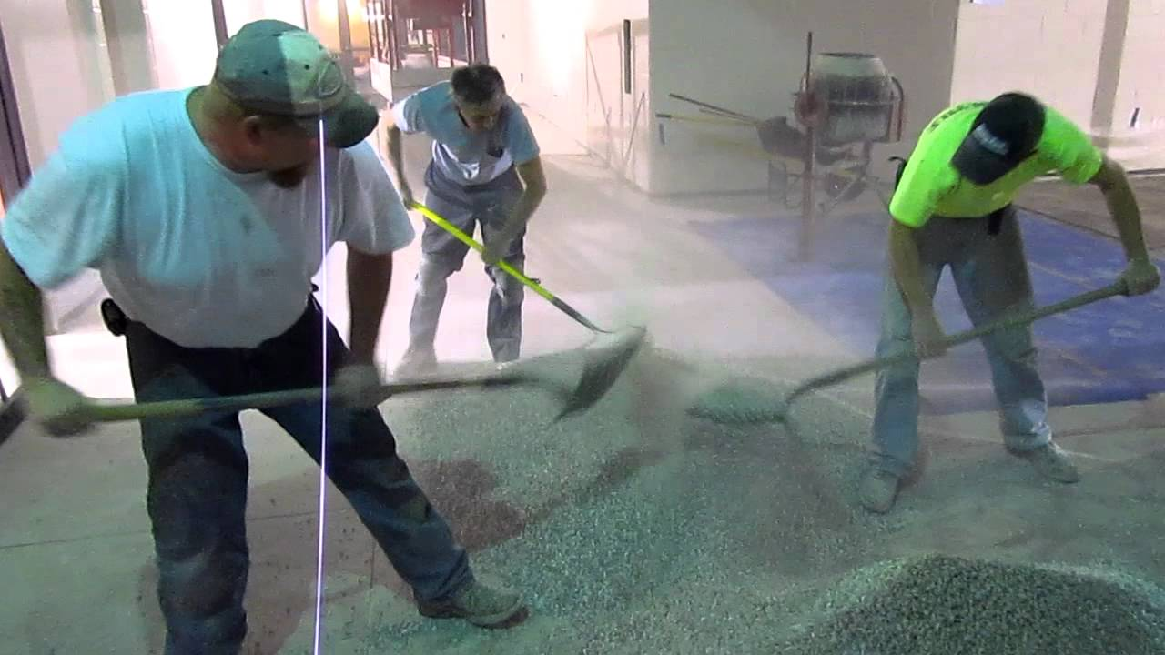 Mixing Terrazzo Stone Chips CCHS Addition 2012