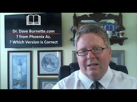 ? Which Bible Version is Correct - DrDaveBurnette.com