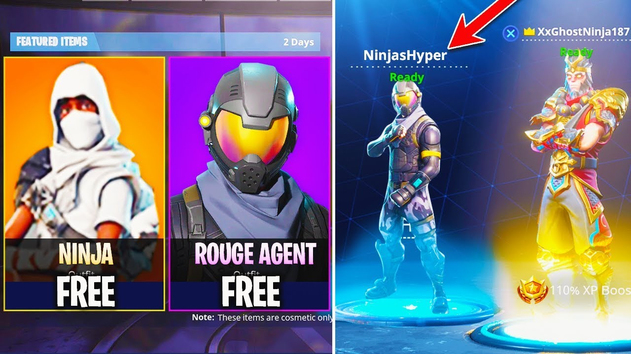 New Fortnite Update How To Get Ninja Skin Rogue Agent In
