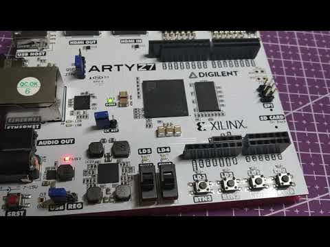 VIVADO ARTY Z7 FPGA Example1 (A Switch and LED)