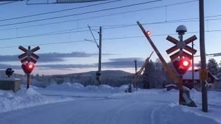 Level Crossing, Kvarnvägen, Korsträsk, Norrbotten, Sweden