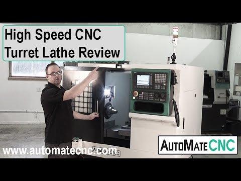 CNC Turret Lathe | AutoMateCNC - FL300-II Flat Bed Turning Center