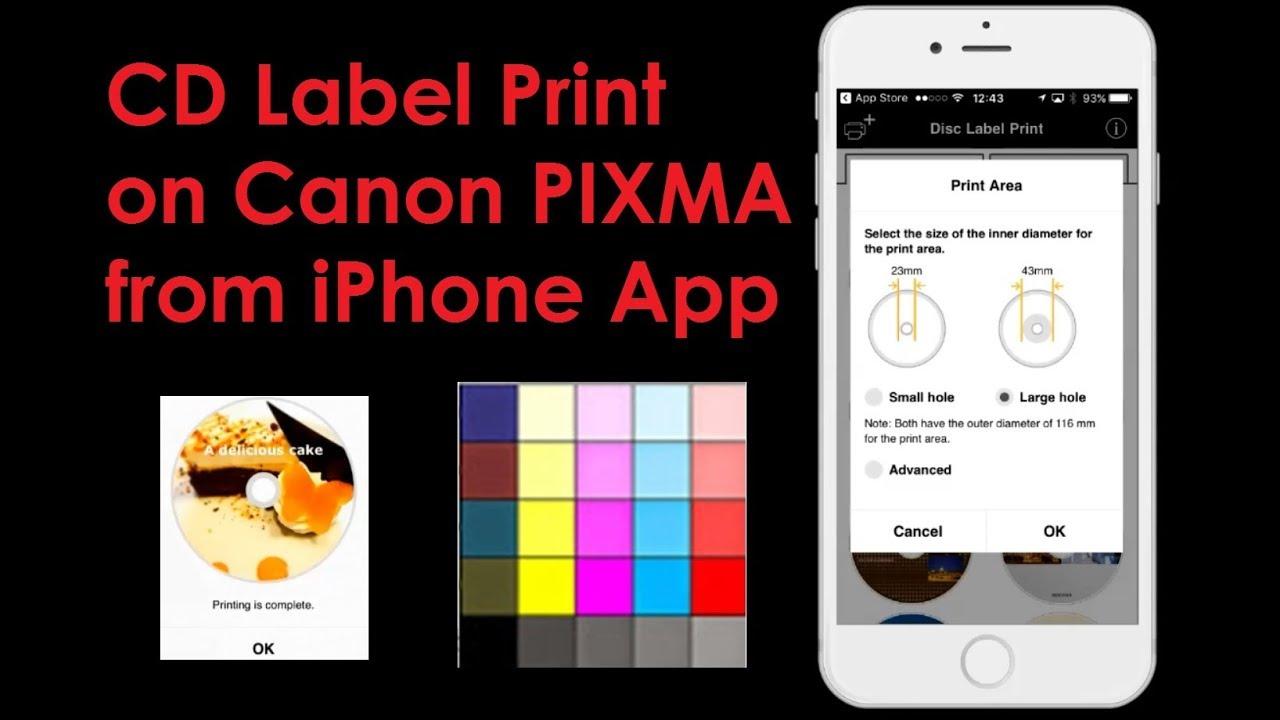 canon cd labelprint