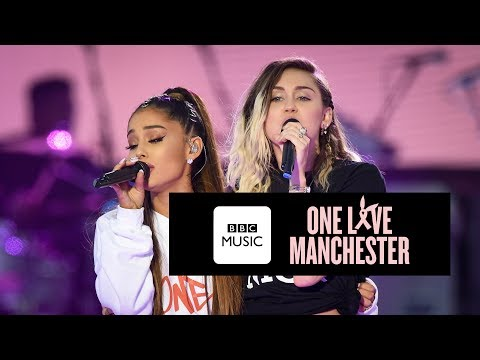 Thumbnail: Miley Cyrus and Ariana Grande - Don't Dream It's Over (One Love Manchester)